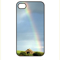 iPhone Case / iPhone Cover 4 or 4s Rainbow over barn by TecStyle