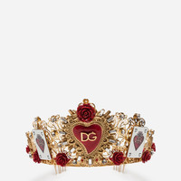 Jewellery and Bijoux for Women | Dolce&Gabbana - TIARA WITH DECORATIVE ELEMENTS
