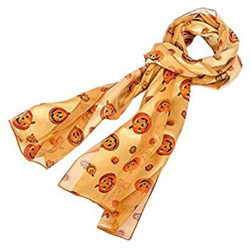 Pumpkin Pattern Scarf for Halloween or Fall