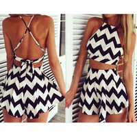 STRIPES DRESSES TWO-PIECE