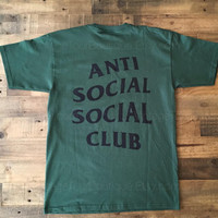 Anti Social Social Club Hunter Green Tee Shirt ASSC Kanye West Kardashians T-Shirt