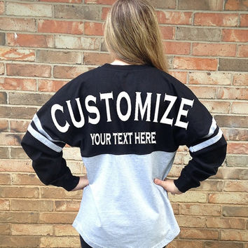 Custom Two Color Jersey made for you!!!  You choose the color and text! Red, Blue, Navy, Black, Gray!