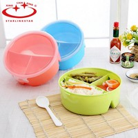StarLinkStar.Cutlery Plastic Dinnerware Sets Bento Storage For Kids Microwave Bowl Food Container Plate Dinner Set