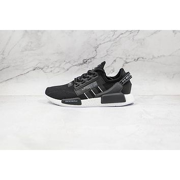 Adidas NMD R1 V2 Black White The Brand with the 3-Stripes GW7690 Sneakers