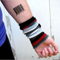 Barcode temporary tattoos by ElectrikPinkPirate on Etsy