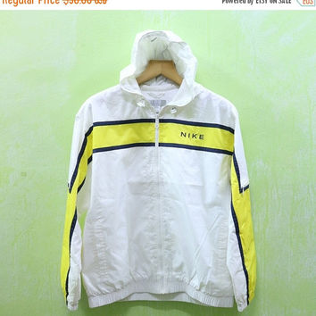 15% SALES Vintage Nike Big Logo Sport Hooded Sweater Logo Windbreaker Trainer Jacket Windbreaker