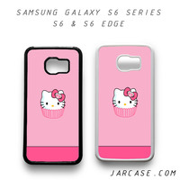 pink cake hello kitty Phone case for samsung galaxy S6 & S6 EDGE