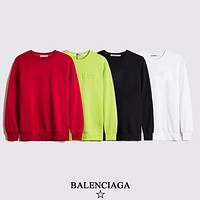 Balenciaga new top round neck 3D air pressure three-dimensional letter pattern fashion men's and women's hoodie