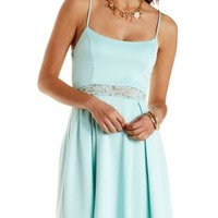 Lace-Waist Skater Dress by Charlotte Russe