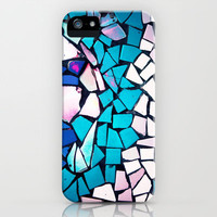 Turquoise and blue mosaic-(photograph) iPhone Case by Sylvia Cook Photography   Society6