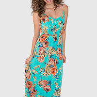 Daydreamin' In The Park Maxi Dress - Mint
