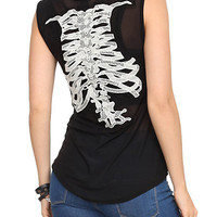 Spine Lace Mesh Top | Hot Topic