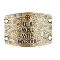 """""""It is well with my soul"""" Large Lenny and Eva Sentiment"""