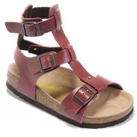 Birkenstock Chania Sandals Leather Wine-red