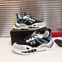 Y-3  Men Fashion Boots fashionable Casual leather Breathable Sneakers Running Shoes