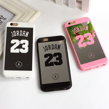 Sport Style Jordan 23 Coque Case For Iphone 7 SE 5 5s Back Cover Lover Phone Mirror Case For iPhone 7 6 6s 7 Plus 6s Plus Fundas