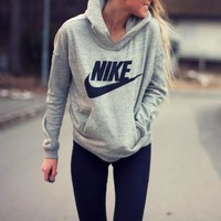 Nike Hooded Top Sweater Pullover Sweatshirt Hoodie-1