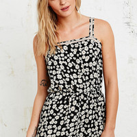 Pins & Needles Lace Insert Playsuit in Daisy Print - Urban Outfitters