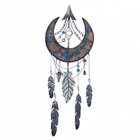 CRESCENT MOON DREAMCATCHER WALL DECOR