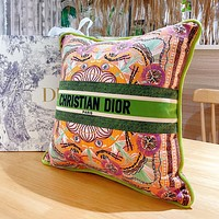 Christian Dior Embroidered Pattern Letter Logo Sofa Pillow Pillow #2