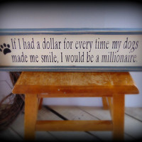 Rustic Shelf Sitter, Dog Owner Gift, Dog Lover Sign, Primitive Decor, Gifts Under 50, Paw Print Decor, Paw Sign, Country Home Decor,Wood Art