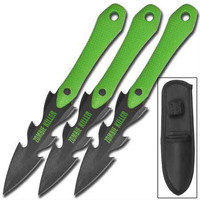 LACERATER ZOMBIE KILLER 3 PIECE THROWING KNIFE SET