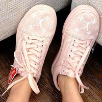 Vans Canvas couple Classics Old Skool Sneaker X LV Shoes Pink
