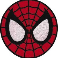 Spiderman Iron-On Patch Round Mask Eyes