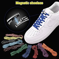 Elastic Reflective Magnetic Shoelaces 20 Colors Quick Locking No Tie Shoe Laces Adult Children Tennis Shoes Hiking Boots Sneakers Running Shoe Laces FREE SHIPPING
