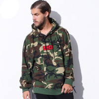 2017 Autumn Winter High Quality FOUR TWO FOUR 424 Camouflage Hoodies Men Hip Hop Casual Camo Hoody Sweatshirts Kanye West Palace