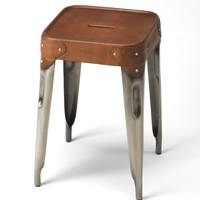 Connor Iron & Leather Counter Stool