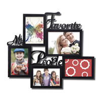 """Decorative Black Plastic """"My favorite People"""" Wall Hanging Picture Photo Frame"""