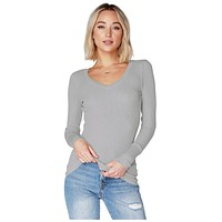 V-Neck Long Sleeve Rock