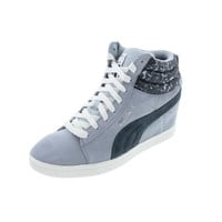 Puma Womens PC Wedge NC Suede Hidden Wedge Fashion Sneakers
