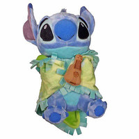 """disney parks 10"""" baby stitch plush toy with blanket new with tag"""