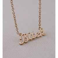 necklaces European and American jewelry letter Bitch necklace jewelry hot selling