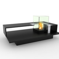 2-Level Bio-Ethanol Fireburning Coffee Table