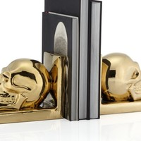 Skull Bookends - Set of 2 | Gifts-for-the-home | Gifts | Z Gallerie