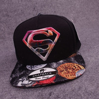 2015 new superman baseball caps hip-hop style hats black (Color: Black) = 1946757892