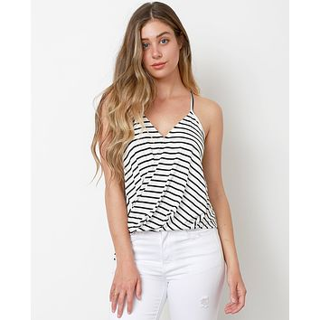 Hampton's Stripe Top - White/Black