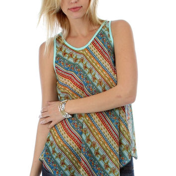 Asymmetric Striped Tank with Open Back