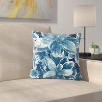 Julia Grifol Leaves Floral Outdoor Throw Pillow