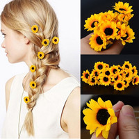 5Pcs  Boho Flower Daisy Hair Cuff Clip Headband Hair Pin Accessories Slide = 1929790532