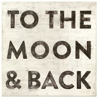 Sugarboo Designs Art Print To The Moon And Back