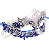 Exclusive Womens Ball Prom Queen Crown Metal Venetian Mask Masquerade