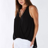 Criss Cross Wrapped Sleeveless Top