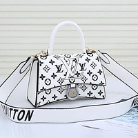 LV Louis Vuitton printed letters women's handbag shoulder bag