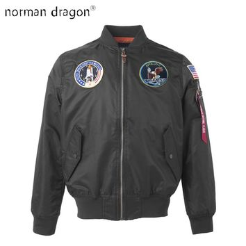 Apollo US Air Force ma1 Bomber Flight Pilot Jacket american college flag wind brand light new view hip hop 2018 dropship for men