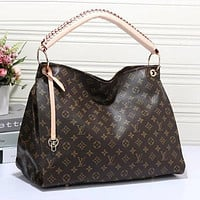 Louis Vuitton LV Women Fashion Leather Satchel Handbag Shoulder Bag