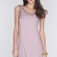 Mauve Chain Beaded Trim Sleeveless Dress @ Amiclubwear sexy dresses,sexy dress,prom dress,summer dress,spring dress,prom gowns,teens dresses,sexy party wear,women's cocktail dresses,ball dresses,sun dresses,trendy dresses,sweater dresses,teen clothing,eve